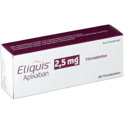 ELIQUIS 2,5 mg Filmtabletten