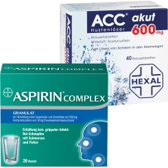 Erkältungsset ASPIRIN® Complex + ACC akut 600 mg