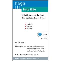 Erste Hilfe, Nitrilhandschuhe Puderfrei, unsteril, latexfrei, blau