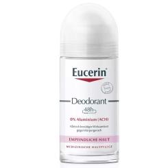 Eucerin® Deodorant Roll-on Empfindliche Haut 24h 0% Aluminium