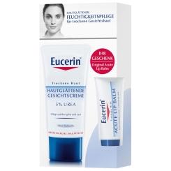 Eucerin® Hautglättende Gesichtscreme 5% Urea + Lip Balm GRATIS