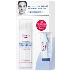 Eucerin® Hyal-Urea Anti-Falten Tagescreme 50 ml + Lip Balm 10 ml GRATIS