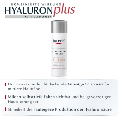 Eucerin® HYALURON-FILLER CC-Cream mittel + eine Ampulle HYALURON-FILLER Serum Konzentrat GRATIS