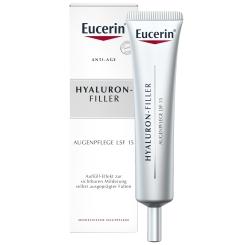Eucerin® HYALURON-FILLER Intensiv Falten-Auffüllende Augenpflege + eine Ampulle HYALURON-FILLER Serum Konzentrat GRATIS
