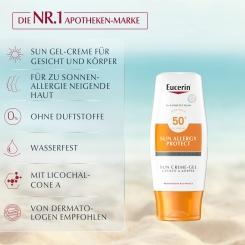 Eucerin® Sonnen Allergie Schutz Sun Creme-Gel LSF 50 + Sommertuch GRATIS