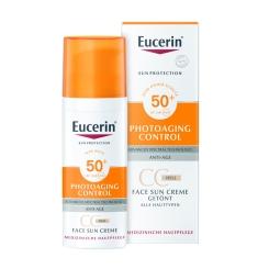 Eucerin® Sun CC Creme getönt hell LSF 50+ + Sommertuch GRATIS