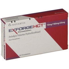 EXFORGE HCT 10 mg/160 mg/25 mg Filmtabletten