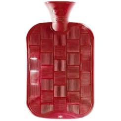 fashy Wärmflasche Karo-Halblamelle Kirschrot