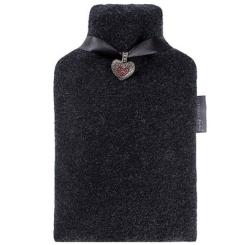 fashy Wärmflasche mit Lodenbezug und Herzanhänger