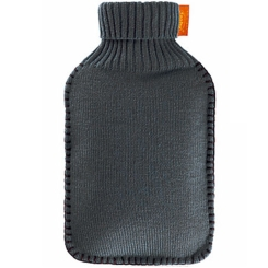 fashy Wärmflasche mit Rollkragen-Bezug Grau