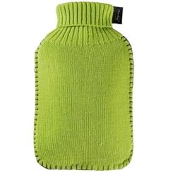 fashy Wärmflasche mit Rollkragen-Bezug Hellgrün