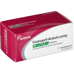 FOSINOPRIL Actavis comp. 20/12,5 mg