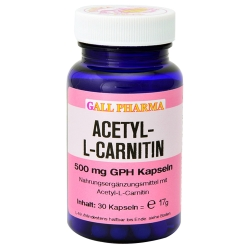 GALL PHARMA Acetyl-L-Carnitin 500 mg GPH Kapseln, 60 St