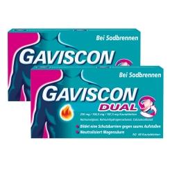 GAVISCON® Dual 250 mg / 106,5 mg / 187,5 mg Kautabletten Sparset