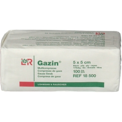 Gazin® Mullkompresse 5 cm x 5 cm unsteril 8 lagig