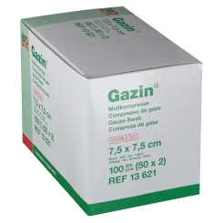 Gazin® Mullkompresse 7,5 cm x 7,5 cm steril 8 lagig