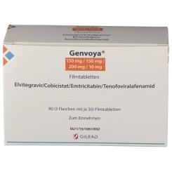 GENVOYA 150 mg/150 mg/200 mg/10 mg Filmtabletten