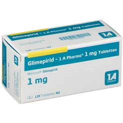 Glimepirid 1 A Pharma 1 mg Tabletten