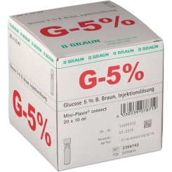 GLUCOSE 5% Braun Mini Plasco connect