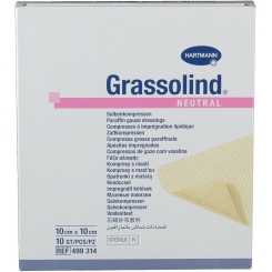 Grassolind® Salbenkompressen steril 10 x 10 cm