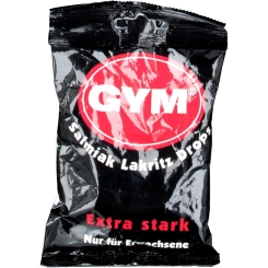 Gym Salmiak Lakritz Drops zuckerhaltig