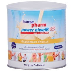 Hansepharm Power Eiweiß Plus Vanille-Geschmack + einen Power Crispy Riegel GRATIS