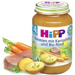 HiPP Karotten mit Kartoffeln und Bio-Rind