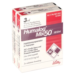 HUMALOG Mix 50 Patrone Ampullen