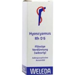 Hyoscyamus Rh D6 Dilution