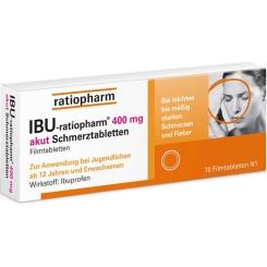 IBU-ratiopharm® 400 mg akut Schmerztabletten