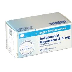 INDAPAMID Heumann 2,5 mg Filmtabletten