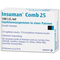 INSUMAN Comb 25 100 I.E./ml Patrone Zylinderamp.