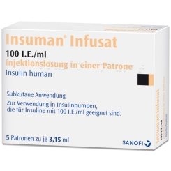 INSUMAN Infusat 100 I.E./ml Patrone