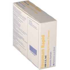 INSUMAN Rapid 100 I.E./ml Patrone