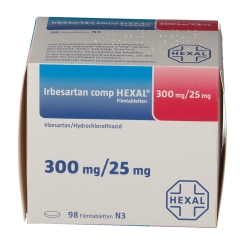 IRBESARTAN CO HEX 300/25MG