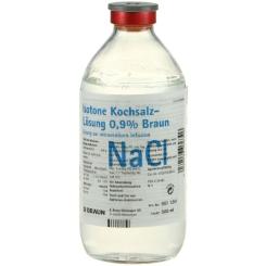 Isotone Kochsalz-Lösung 0,9% B. Braun, Glasflasche