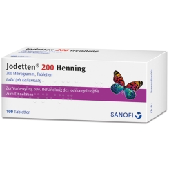 Jodetten® Henning 1x wöchentlich Tabletten