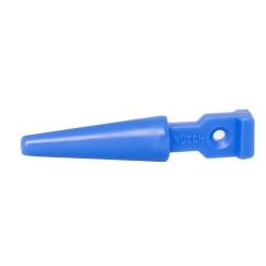 Katheterstöpsel stumpf aus Kunststoff steril blau