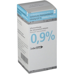 Kochsalzloesung 0,9% DeltaSelect Glas