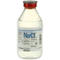 Kochsalzloesung 0,9% Glasfl.
