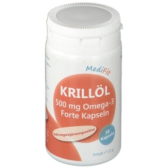 Krillöl 500mg Omega-3 Forte Kapseln MediFit