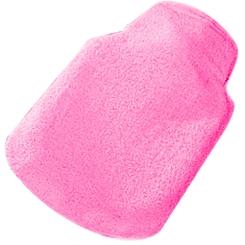 Kuschelwärmflasche 0,5 l aus Frottee pink