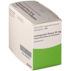 LANSOPRAZOL Pensa 30 mg magensaftres. Kapseln