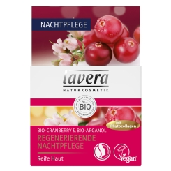 lavera Regenerierende Nachtpflege Bio-Cranberry & Bio-Arganöl
