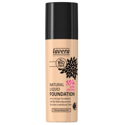 lavera sensitiv Natural Liquid Foundation Honey Beige 04