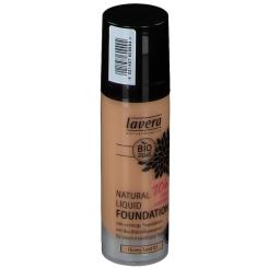 lavera sensitiv Natural Liquid Foundation Honey Sand 03