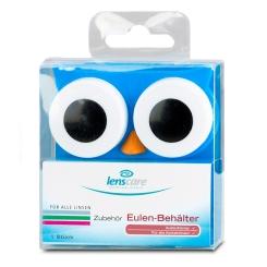 Lenscare Kontaktlinsenbehälter Eule blau