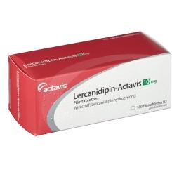 LERCANIDIPIN Actavis 10 mg