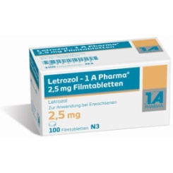 Letrozol - 1 A Pharma 2,5 mg Filmtabletten