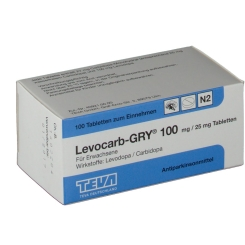 Levocarb Gry 100 mg/25 mg Tabletten